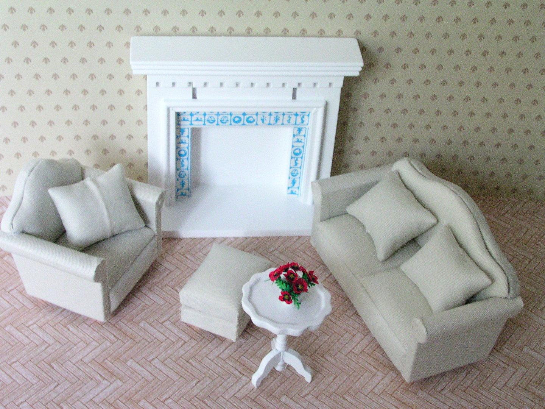 polsterm bel set miniart puppenstuben und miniaturen. Black Bedroom Furniture Sets. Home Design Ideas
