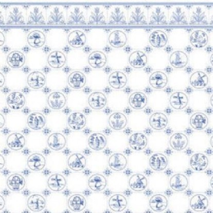 "Tapete ""Dutch Blue Tile"""